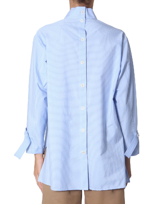 Jejia High Neck Shirt In Baby Blue