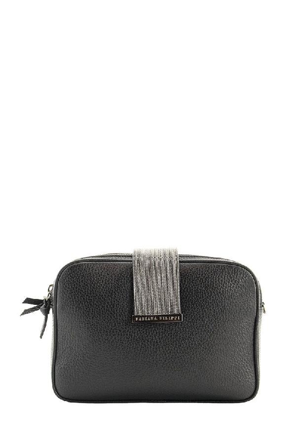 Fabiana Filippi Leather Mini Bag In Black