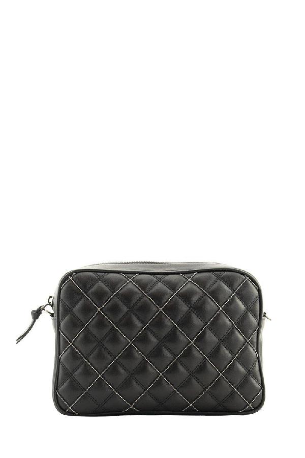 Fabiana Filippi Quilted Leather Mini Bag In Black
