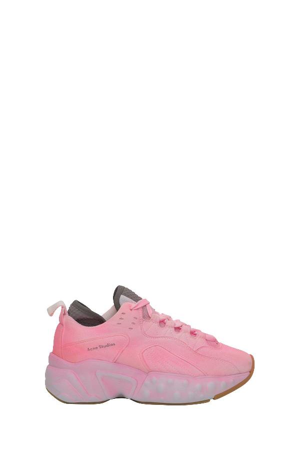 Acne Studios Manhattan Pink Leather Sneakers