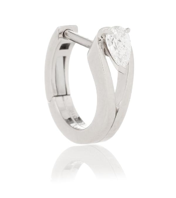Repossi Serti Inversé Xs 18kt White Gold Single Earring With Diamond