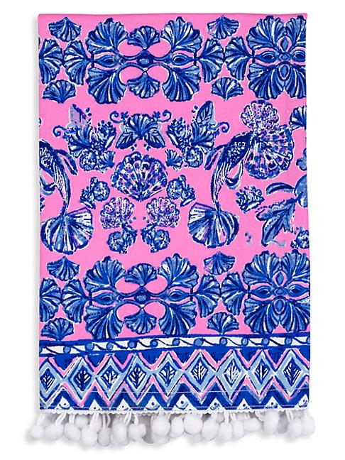 Lilly Pulitzer Ginger Jar 2-piece Cotton Dinner Napkin Set In Pink Blue