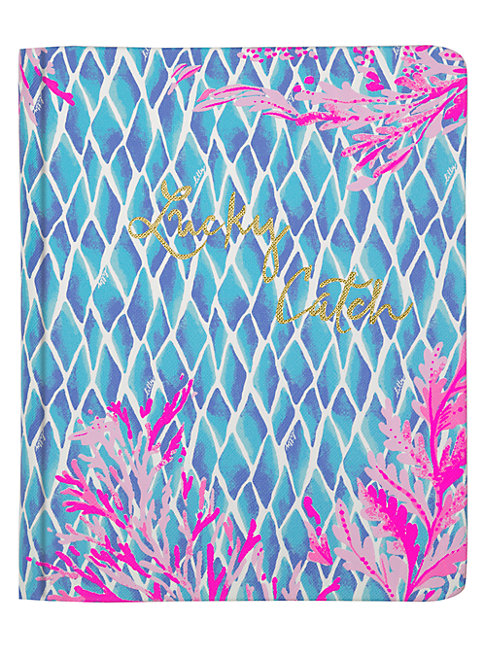 Lilly Pulitzer Lucky Catch Kaleidoscope Coral Journal