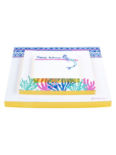 Lilly Pulitzer Mermaids Cove 3-piece Notepad Set