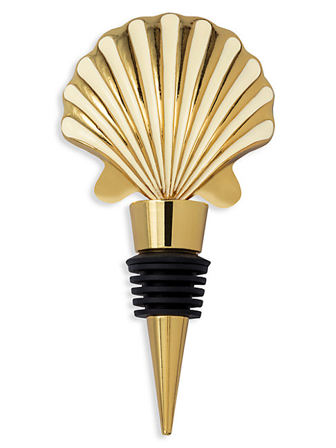 Lilly Pulitzer Scale Up Shell Wine Stopper In Gold