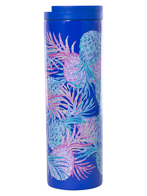 Lilly Pulitzer Stainless Steel Travel Mug Gypset In Blue Pink