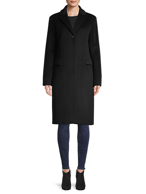Cinzia Rocca Icons Wool-blend Coat In Black