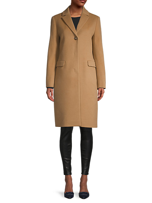 Cinzia Rocca Icons Tailored Coat In Camel