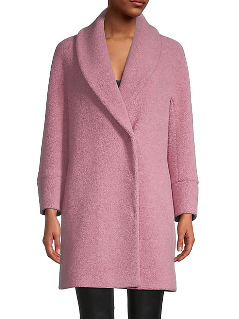 Cinzia Rocca Icons Textured Coat In Pink Rose