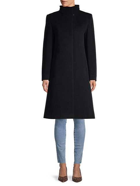 Cinzia Rocca Icons Wool & Cashmere-blend Coat In Black
