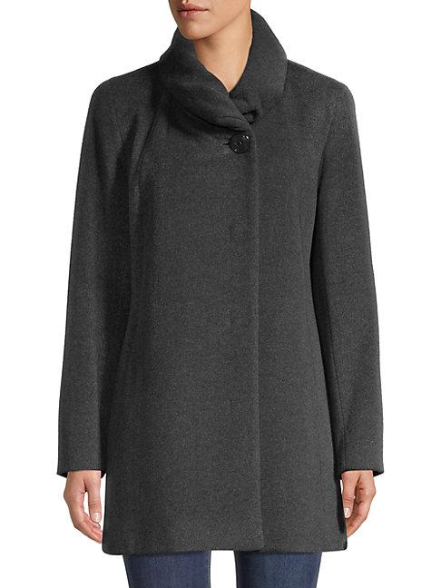 Cinzia Rocca Icons Wool-blend Coat In Medium Grey