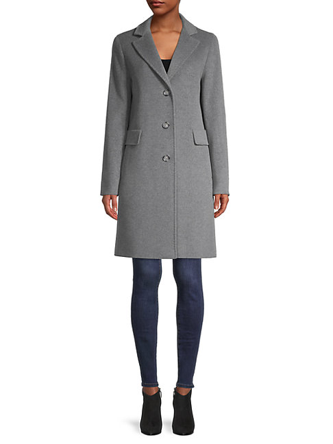 Cinzia Rocca Icons Wool-blend Coat In Heather Grey