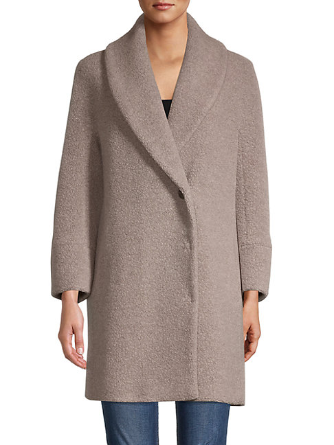 Cinzia Rocca Icons Wool-blend Car Coat In Taupe