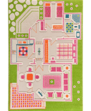 Ivi Playhouse 3d Play Rug In Green