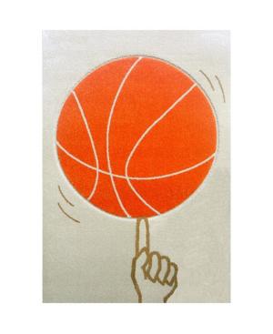 Ivi Kids Basketball Area Rug In Orange