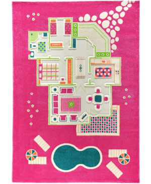 Ivi Playhouse 3d Play Rug In Pink