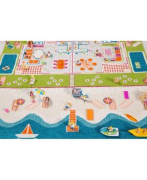 Ivi Beach Houses 3d Kids Play Rug In Multi