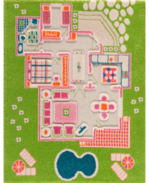 Ivi Playhouse Green 3d Play Rug