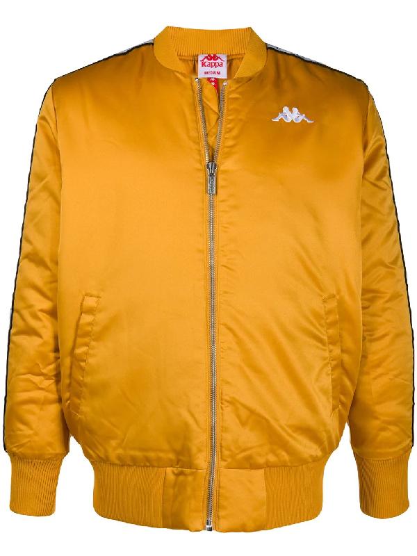 Kappa Logo Bomber Jacket In Yellow