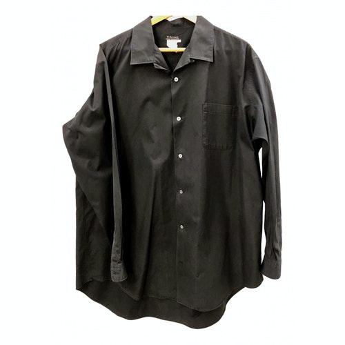 Y's Black Cotton Shirts