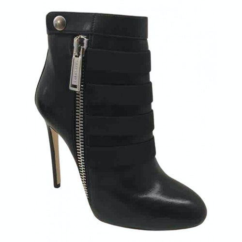 Dsquared2 Black Leather Ankle Boots
