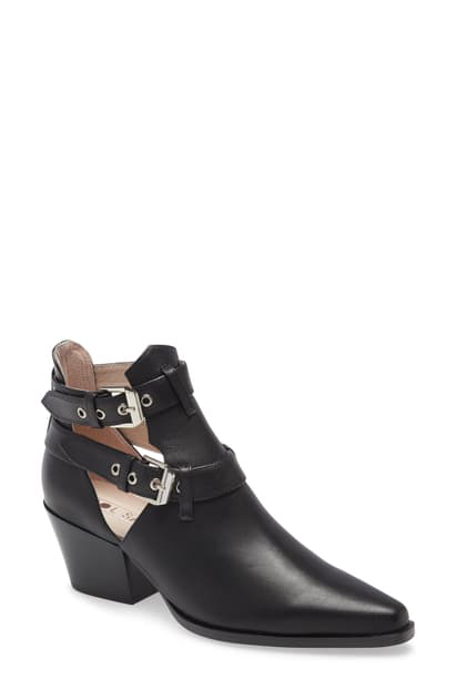 Sol Sana Brenda Bootie In Black Leather