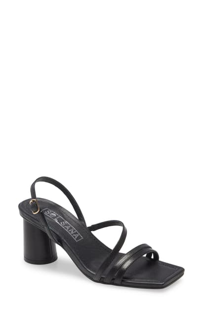 Sol Sana Yole Strappy Sandal In Black Leather
