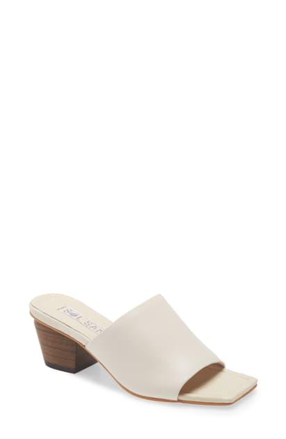 Sol Sana Palma Block Heel Sandal In Ivory Leather