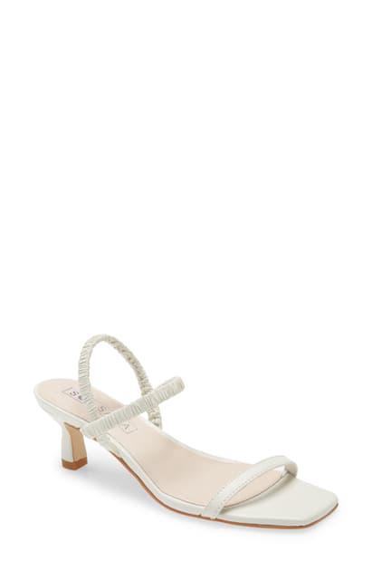 Sol Sana Oscar Ankle Strap Sandal In White Leather