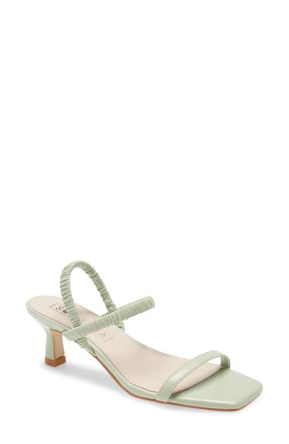 Sol Sana Oscar Ankle Strap Sandal In Mint Foam Leather