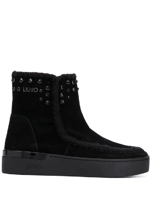 Liu •jo Tonal Studs Snow Boots In Black