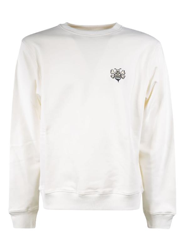 Dior Left Chest Logo Sweatshirt In White