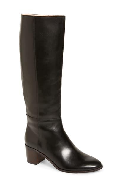 Madewell The Carlotta Tall Boot In True Black Leather