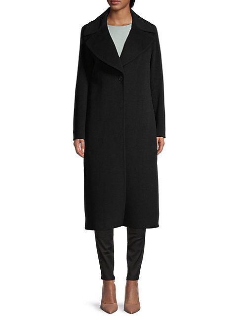 Cinzia Rocca Icons Wool-blend Coat In Black