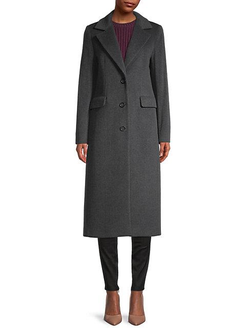Cinzia Rocca Icons Notch Collar Wool-blend Coat In Grey