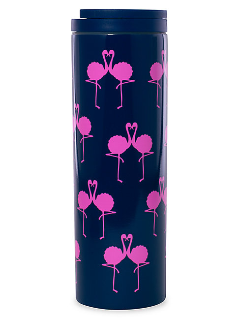 Lilly Pulitzer Graphic Stainless Steel Travel Mug In Blue