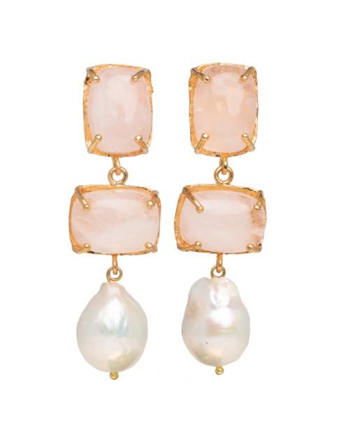 Christie Nicolaides Loren Earrings Pale Pink