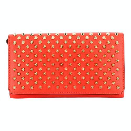Christian Louboutin Orange Leather Wallet