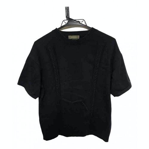 Y's Black Cotton T-shirts