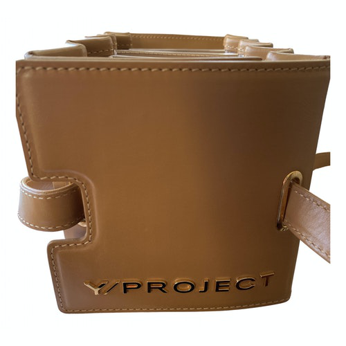 Y/project Beige Leather Handbag