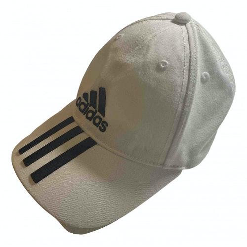 Adidas Originals White Cotton Hat & Pull On Hat