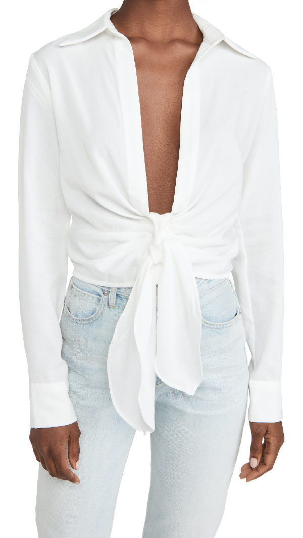 Lioness Monroe Tie Top In White