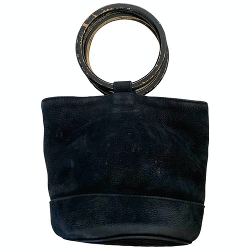 Simon Miller Medium Bonsai Black Suede Handbag