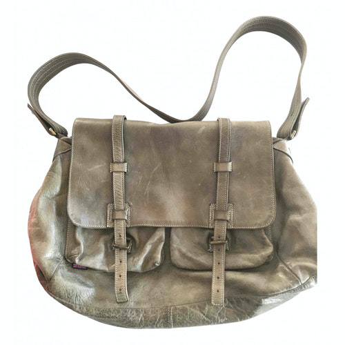 Belstaff Green Leather Handbag