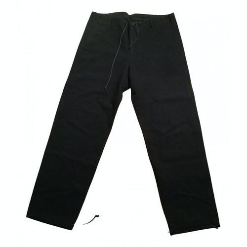 Y's Black Cotton Trousers