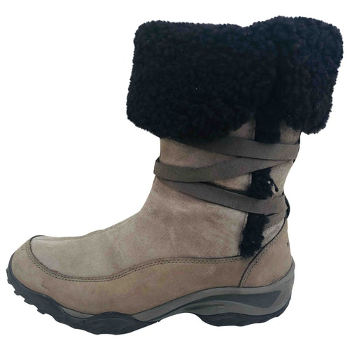 The North Face Camel Leather Boots