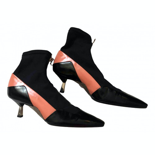 Versace Multicolour Leather Ankle Boots