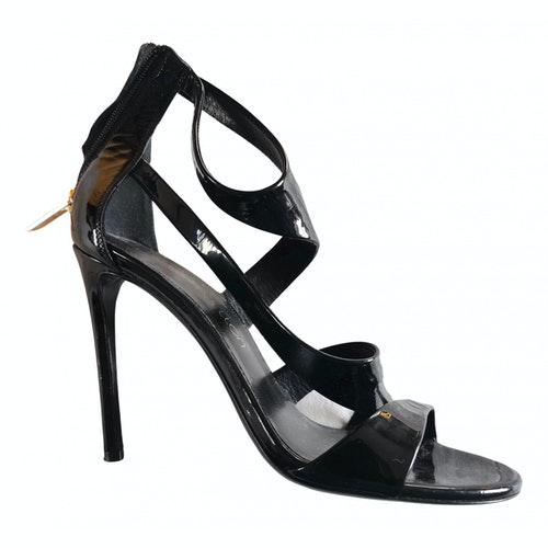 Tamara Mellon Black Patent Leather Sandals
