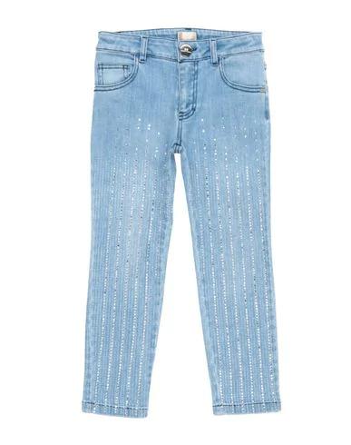 Elisabetta Franchi Denim Pants In Blue
