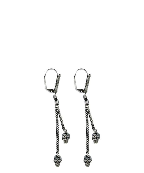 Alexander Mcqueen Silver Metal Earrings In Not Applicable